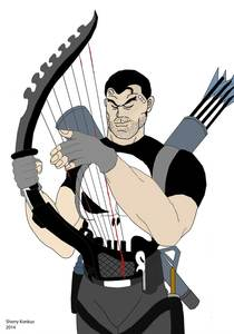 My First Punisher Harp Art I ever made.