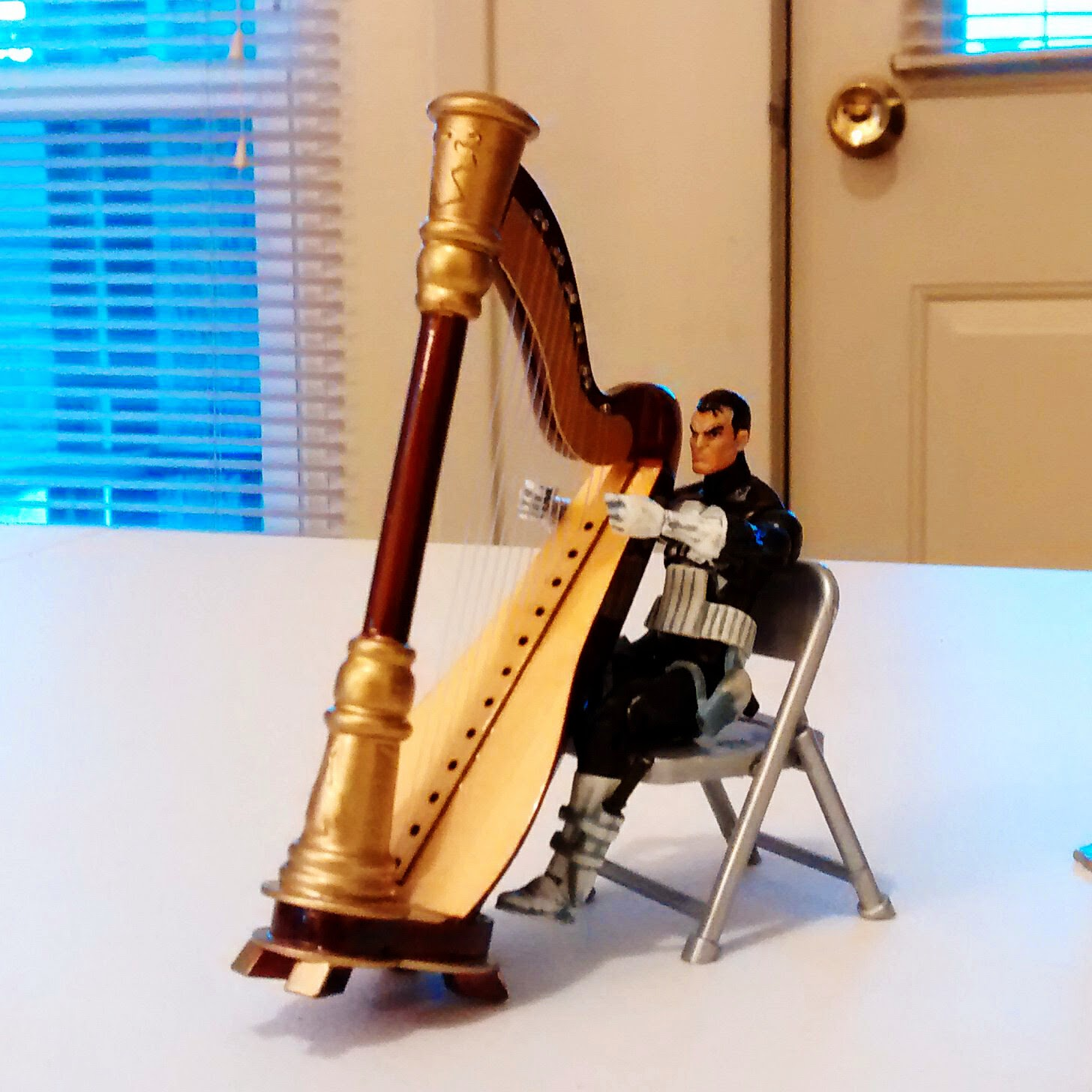The Punisher can sit and play his harp after all!