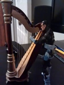 Here's Frank standing as he harps.