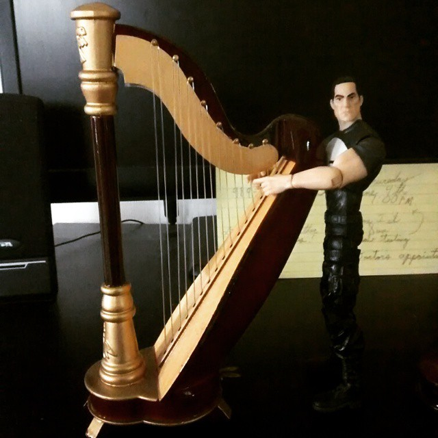 Here's Frank posing with his harp.