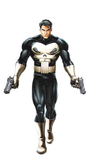 Punisher from Marvel Heroes sticker books.