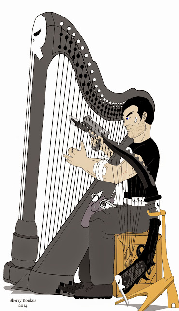 The Punisher can play the harp and punish, too.