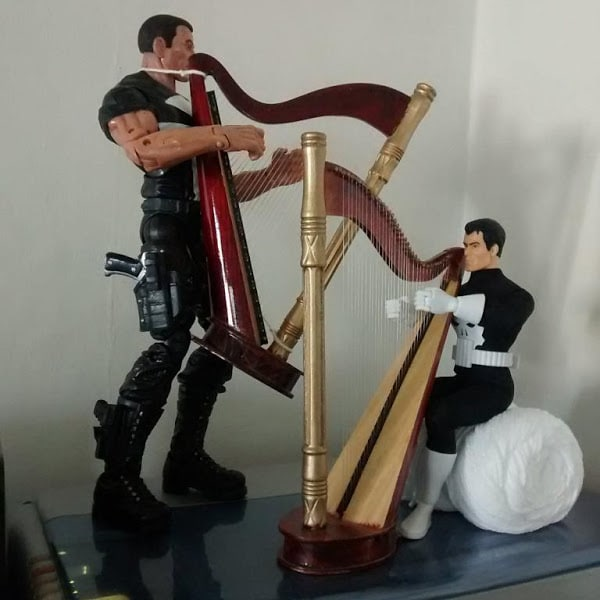 Two Punisher figures engaging in a splendid duet.