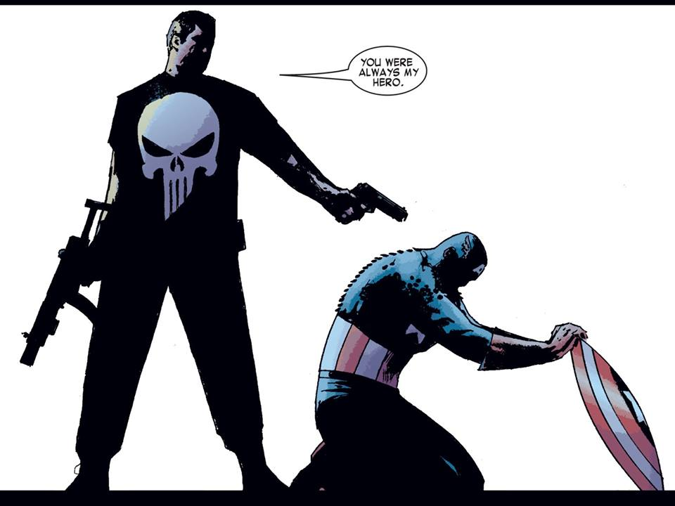 From Garth Ennis' version of The Punisher Kills the Marvel Universe