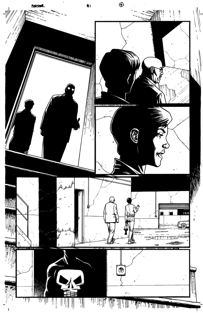 Black & White Sample of Punisher #1