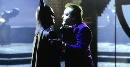 Michael Keaton and Jack Nicholson as Batman and The Joker