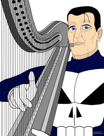 Steve Dillon's Punisher on the harp