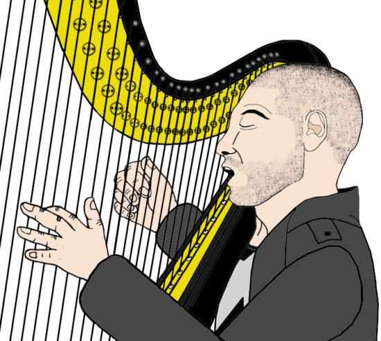 Jon Bernthal as The Punisher performing harp music (Detail)