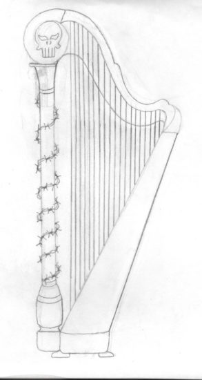 Punisher Harp Sketch.