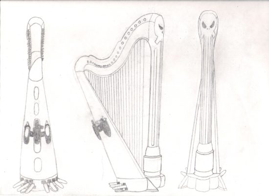 Punisher Harp Art sketch 11