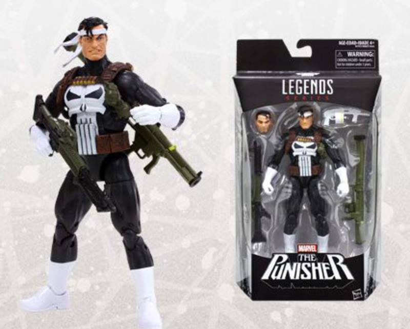 The Punisher figure from the Marvel Legends collection.
