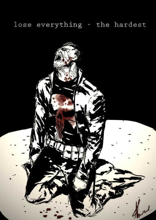 Most powerful Punisher Art ever! The art says it all.