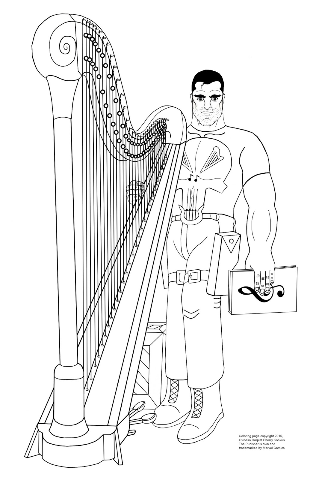 The Punisher and his harp
