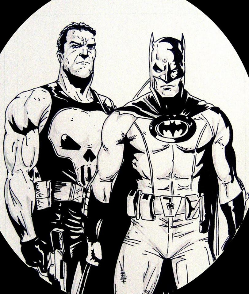 Punisher and Batman.