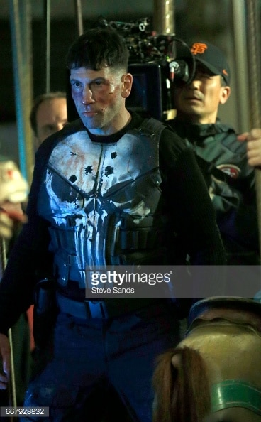 Jon Bernthal shown in Punisher skull armor 7
