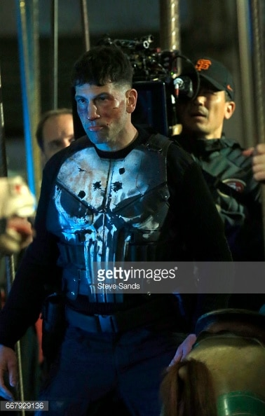 Jon Bernthal shown in Punisher skull armor 6