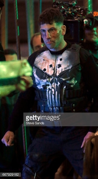 Jon Bernthal shown in Punisher skull armor 4