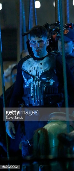 Jon Bernthal shown in Punisher skull armor.