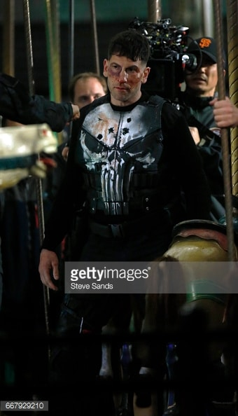 Jon Bernthal shown in Punisher skull armor 8
