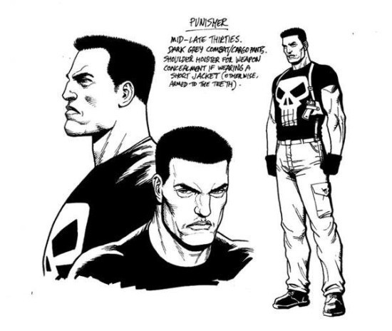 Punisher as drawn for Becky Cloonan's Punisher run that's unfortunately coming to an end this month.