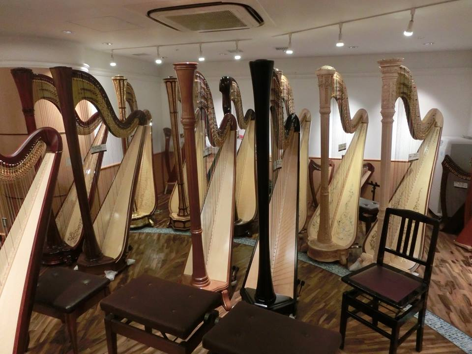 A role of harps at another retailer store.