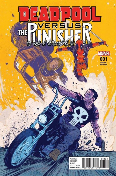 Variant cover to Deadpool vs The Punisher (I hate Deadpool.)