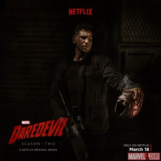 Punisher promo poster for Daredevil Season 2