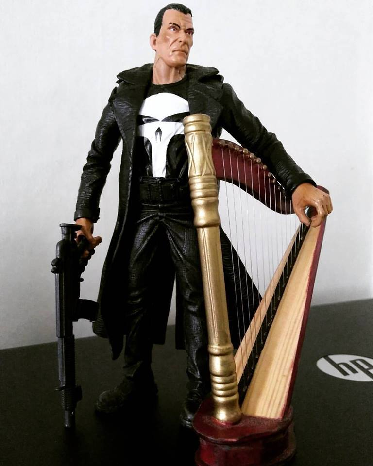 The Punisher and his harp.