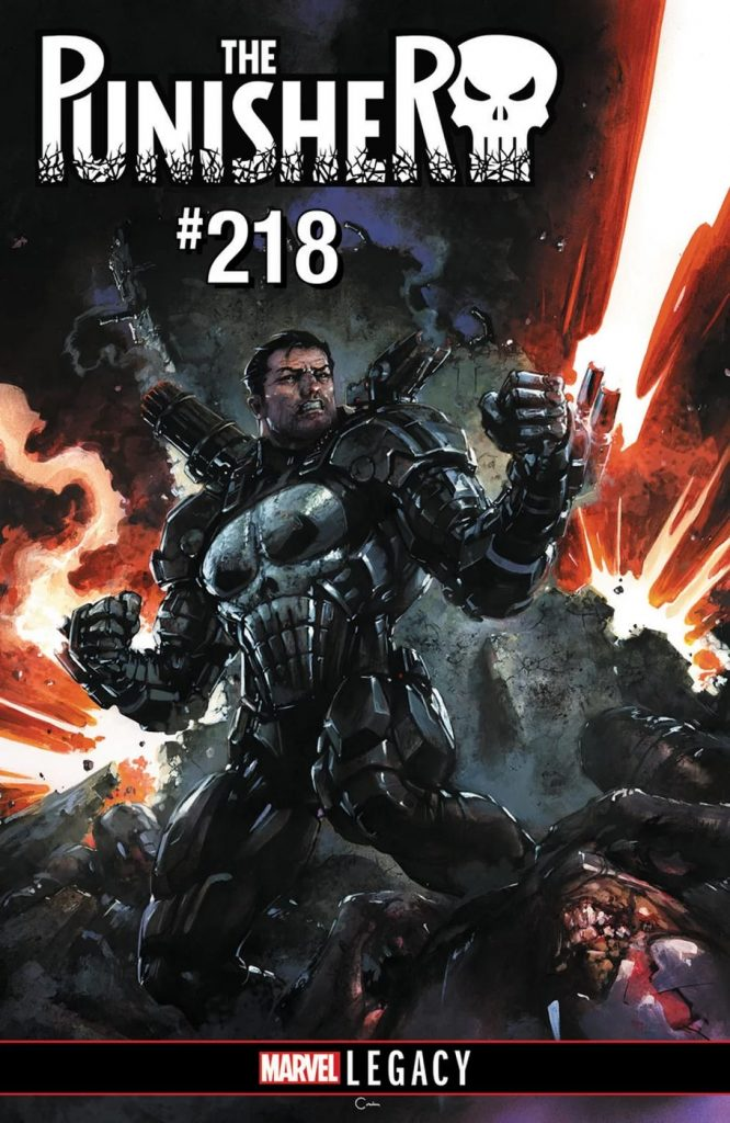 Cover to Punisher #218 by CLAYTON CRAIN