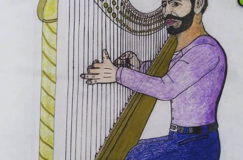 The Harp of Pete Castiglione. Updated with extra blending of color.