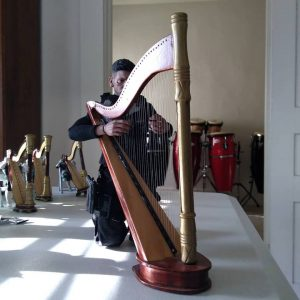 Here he is playing right in front of The Punisher Harp Ensemble and my conga drums in the next room.